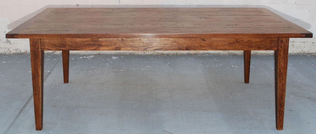 harvest dining room table vintage oak harvest table for at 1stdibs 3928