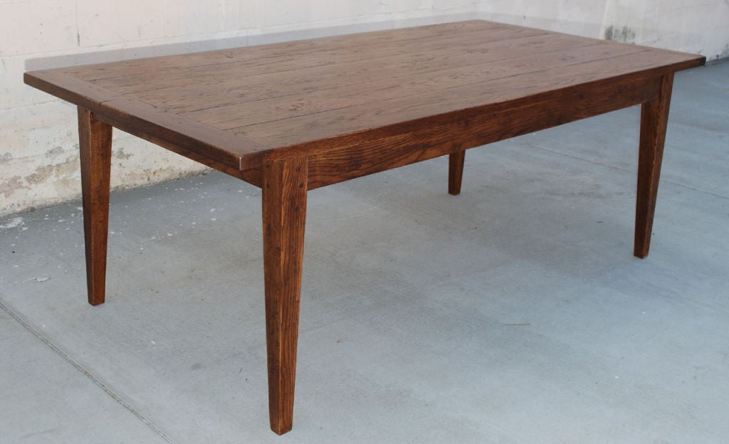 vintage oak harvest table for sale at 1stdibs