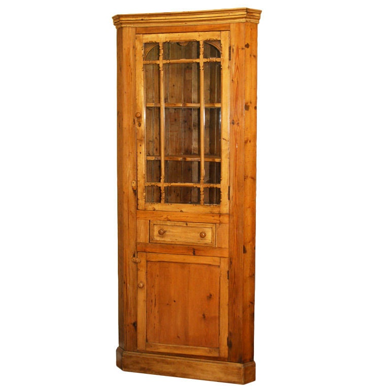 Antique Irish Corner Cupboard For Sale