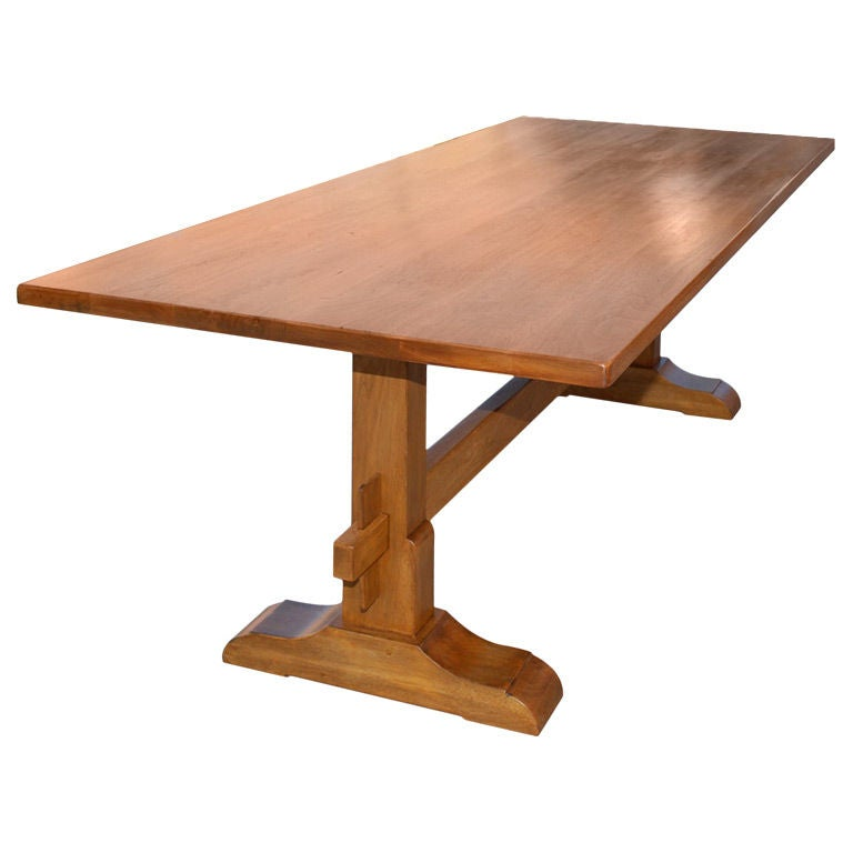 Trestle Table Dining Table in Vintage Walnut at 1stdibs : XXX806513134560051 from www.1stdibs.com size 768 x 768 jpeg 31kB