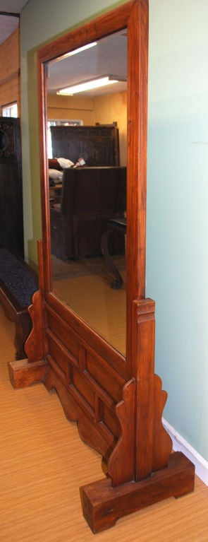 Large Antique Two Sided Floor Mirror For Sale At 1stdibs