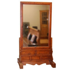 Large Antique, Two-Sided Floor Mirror