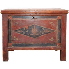 Large Hope Chest, Blanket Box with Butterflies