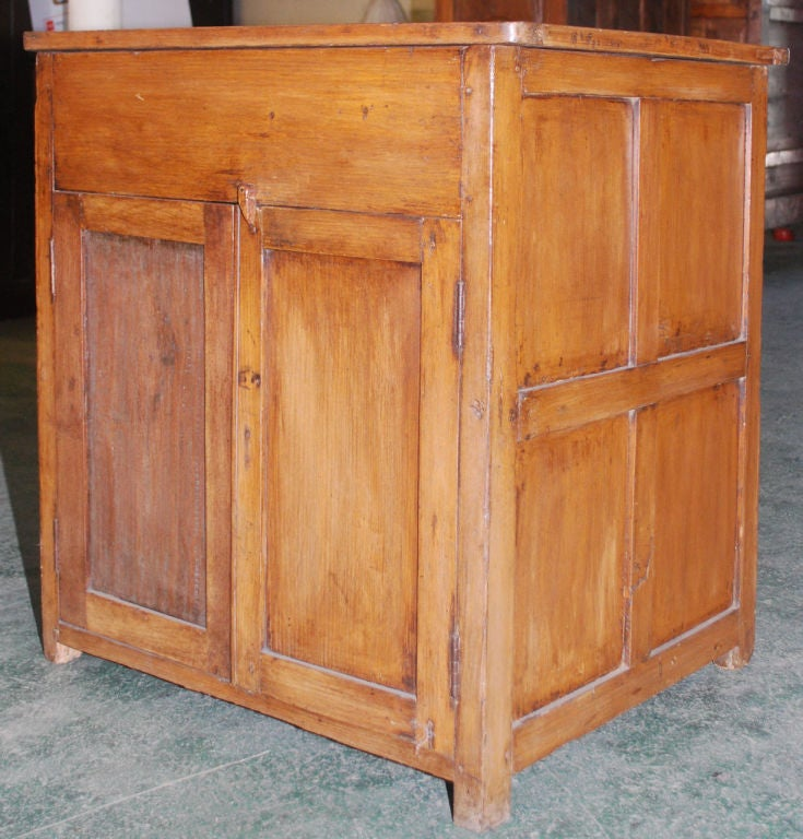 Indian British Colonial Teak Nightstand For Sale