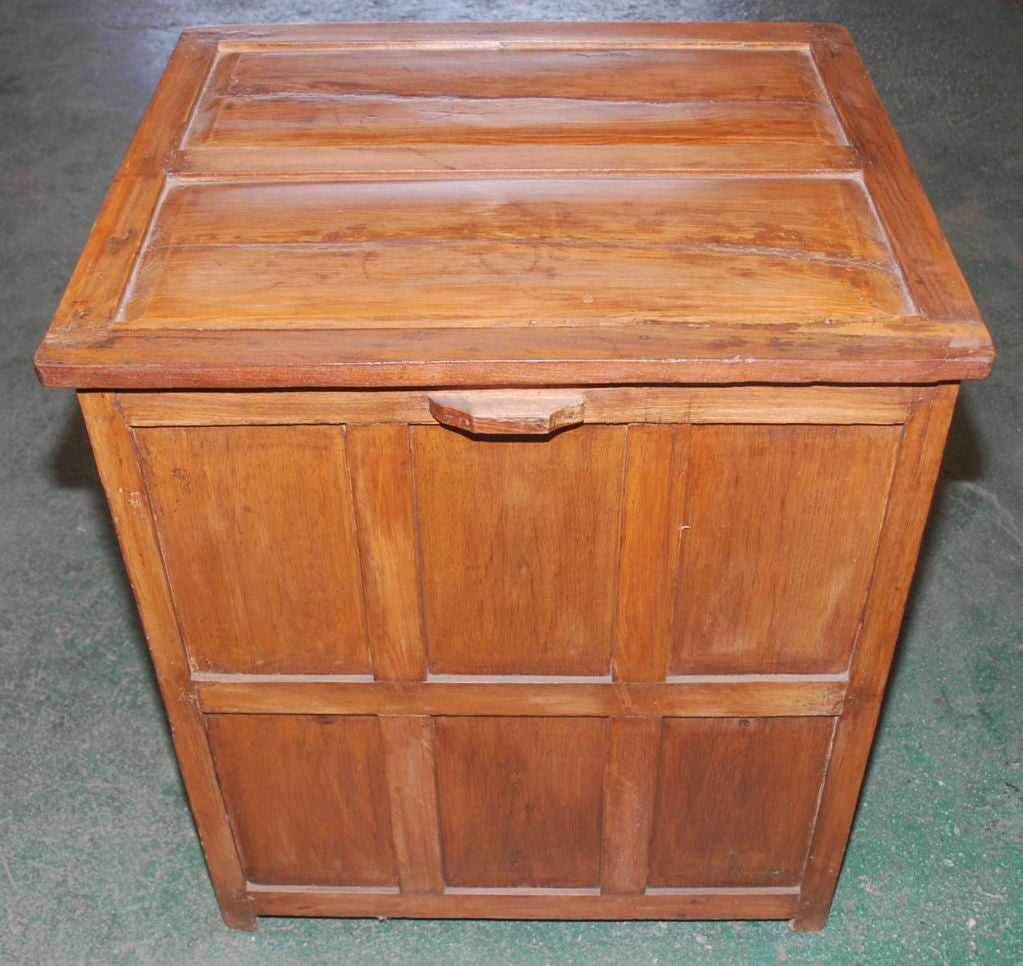 19th Century British Colonial Teak Nightstand For Sale