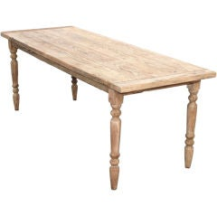 Vintage Fir Dining Table with Extensions