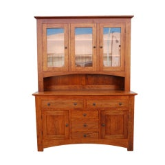Craftsman Style Hutch in Cherrywood