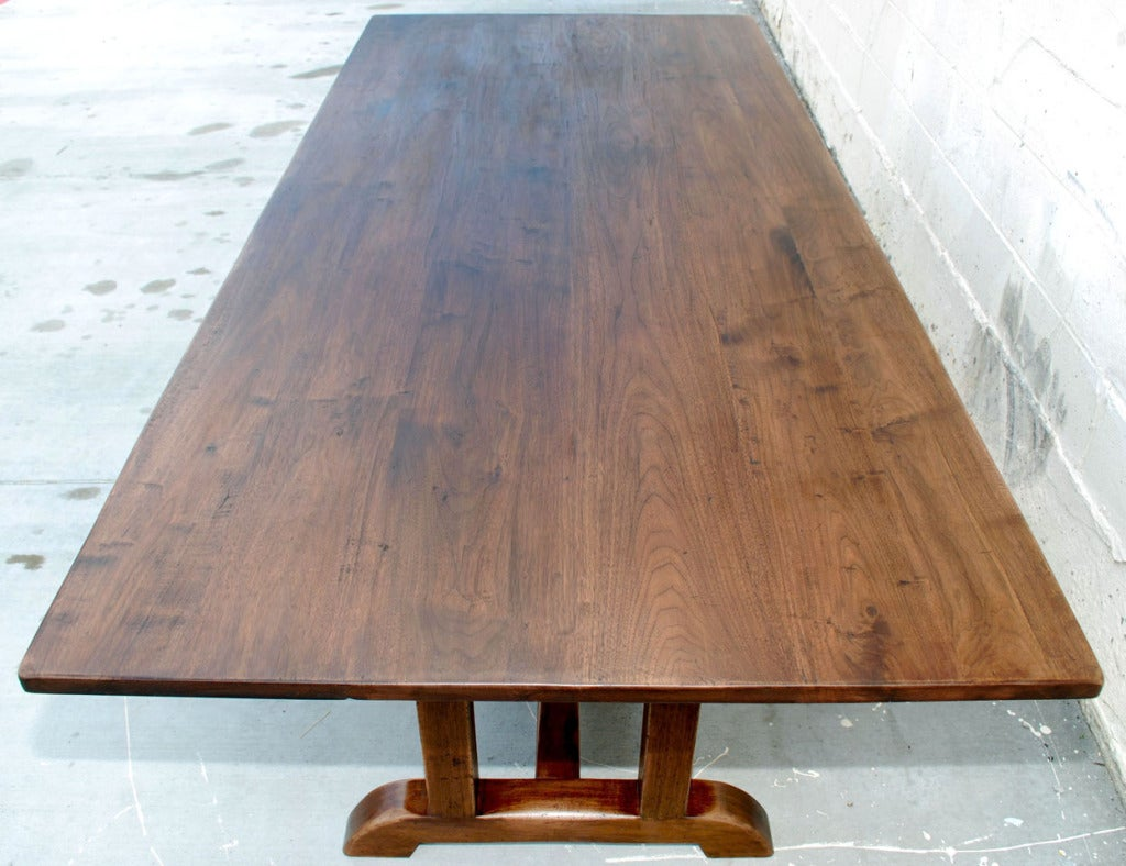 Vintage Walnut Dining Table For Sale at 1stdibs