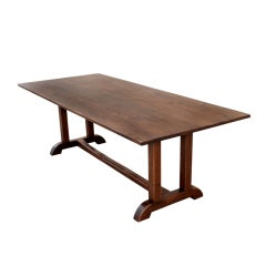 Dining Table in Vintage Walnut, Custom Made by Petersen Antiques