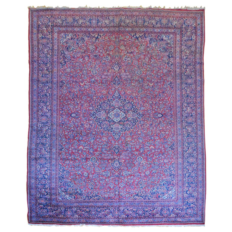 Antique Persian, Kazvin Large Rug At 1stdibs