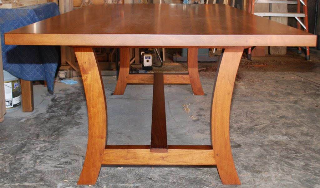 Hand-Crafted Cherrywood Dining Table, Custom Made by Petersen Antiques For Sale