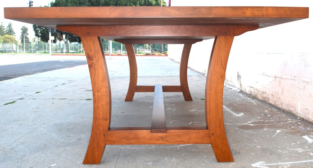 Cherrywood Dining Table, Custom Made by Petersen Antiques For Sale 1