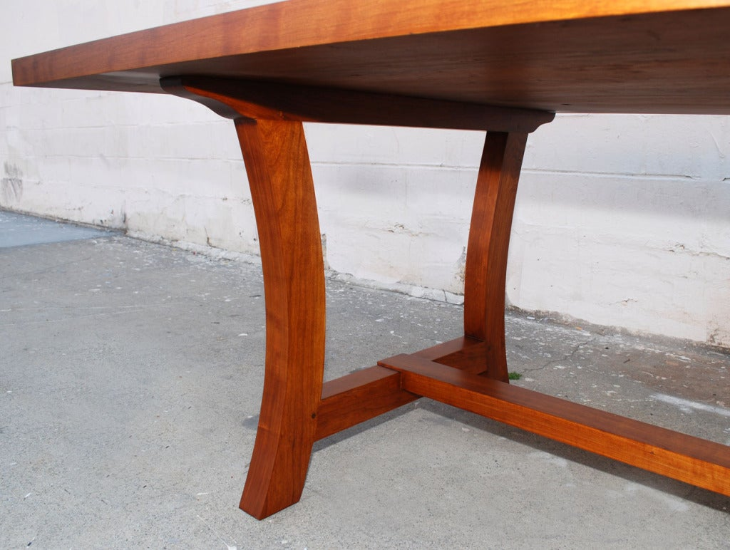 Cherrywood Dining Table, Custom Made by Petersen Antiques For Sale 2