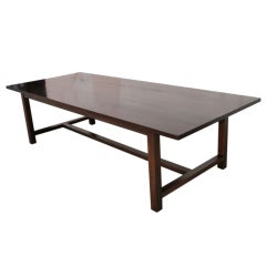 Dining Table in Solid Black Walnut, Built to Order by Petersen Antiques