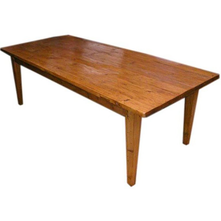 Harvest table made from reclaimed wood for sale at 1stdibs for Reclaimed dining room table