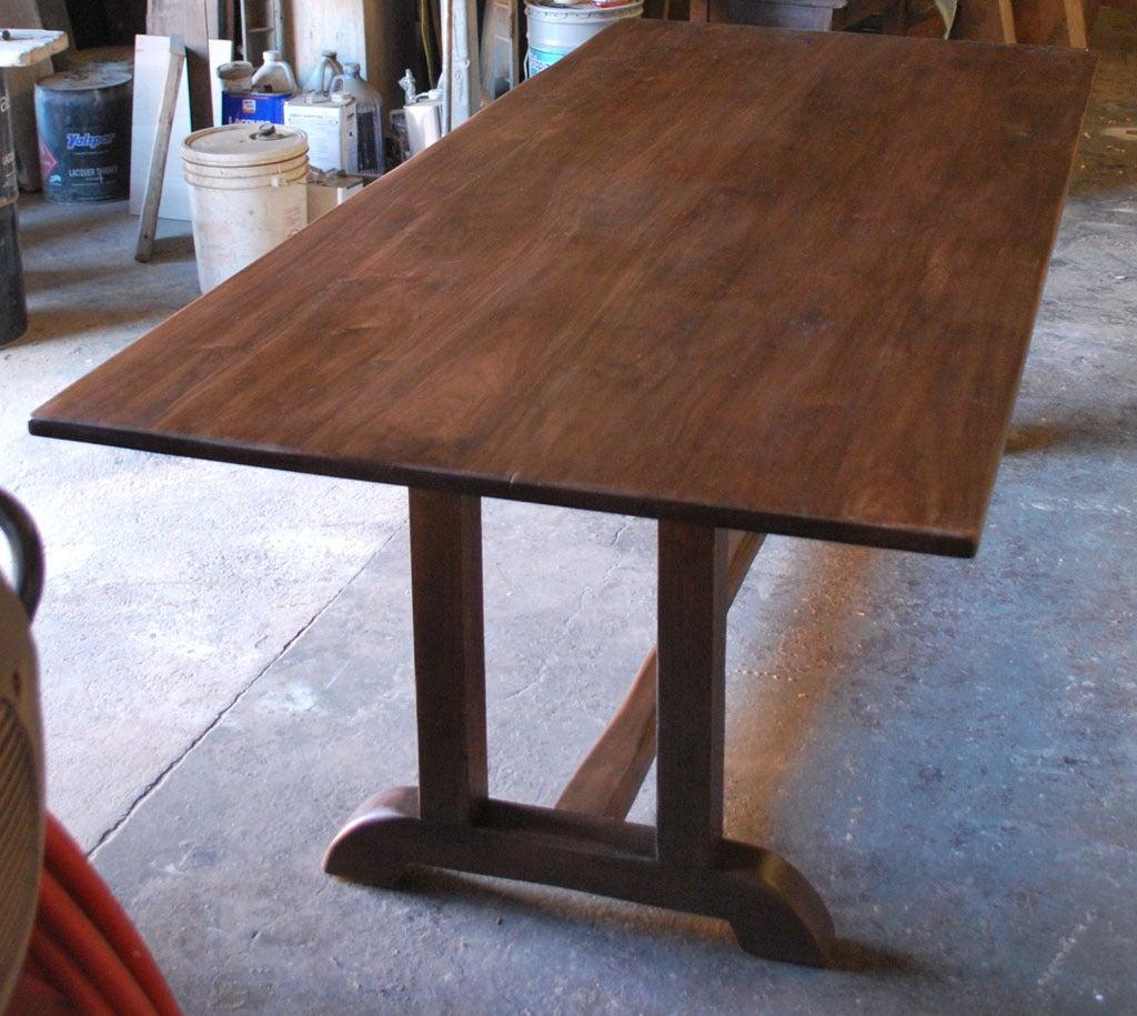 Vintage Black Walnut Custom Built Dining Table at 1stdibs