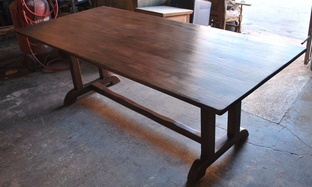 vintage black walnut custom built dining table is no longer available