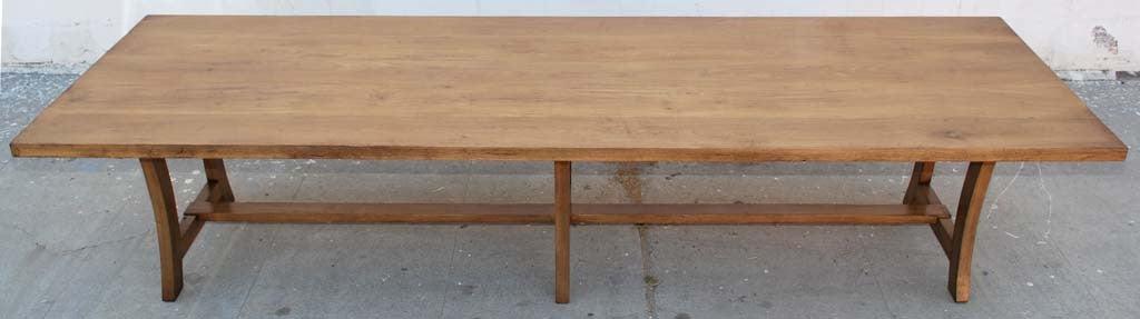 vintage black walnut custom built dining table for sale at 1stdibs