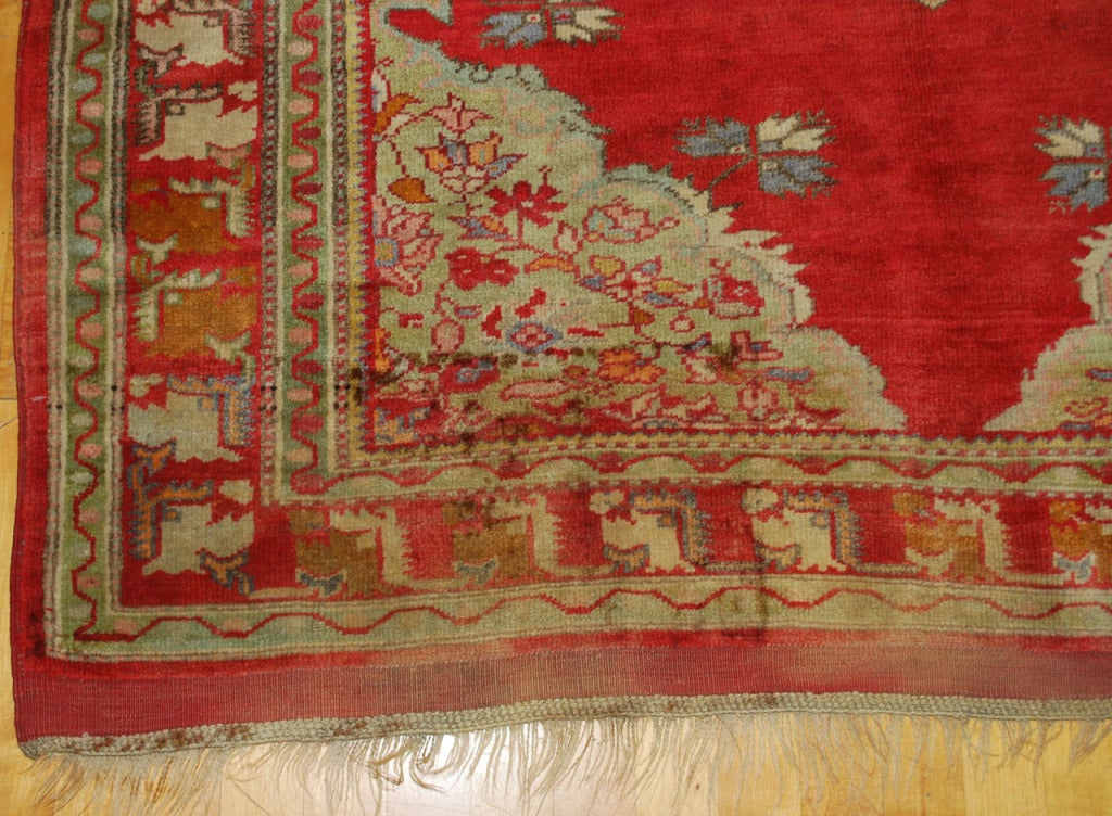 Antique Russian Rug In Good Condition For Sale In Los Angeles, CA