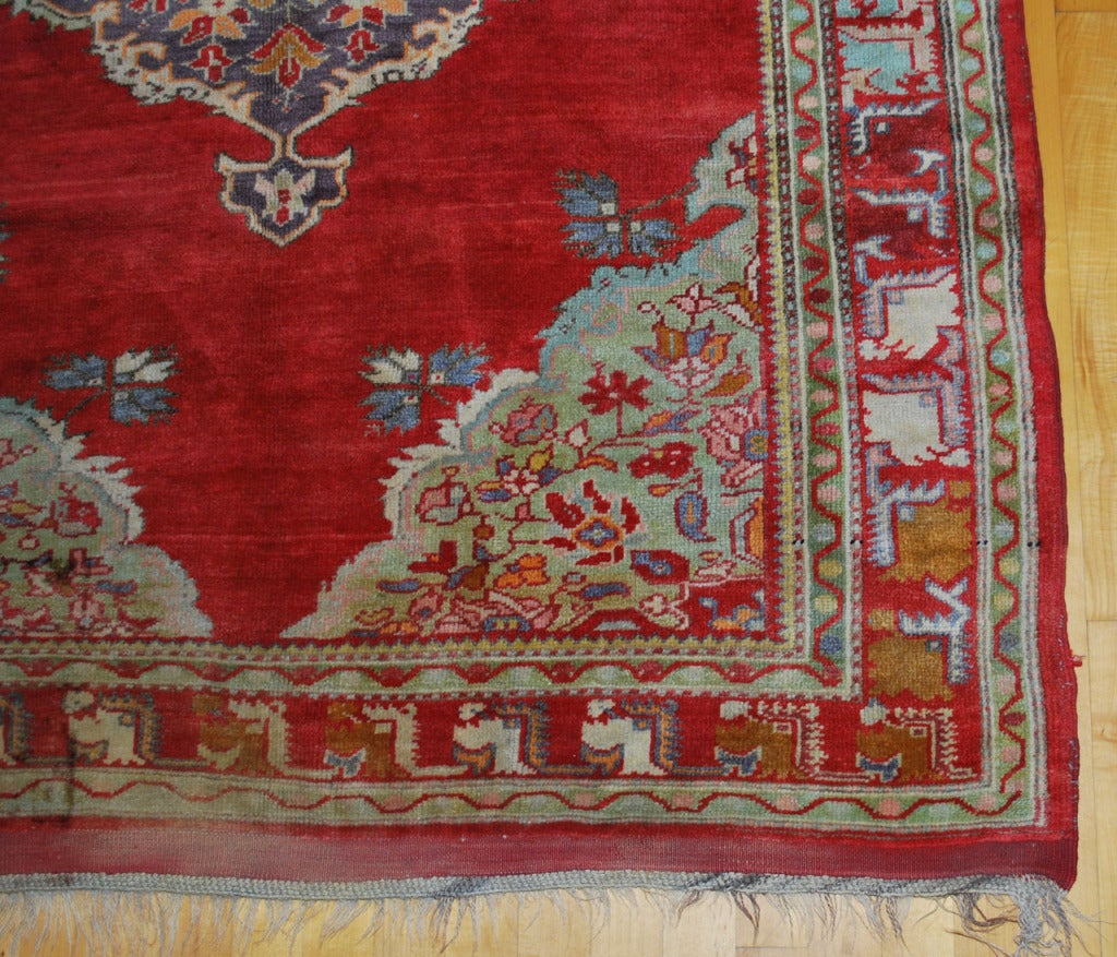 19th Century Antique Russian Rug For Sale