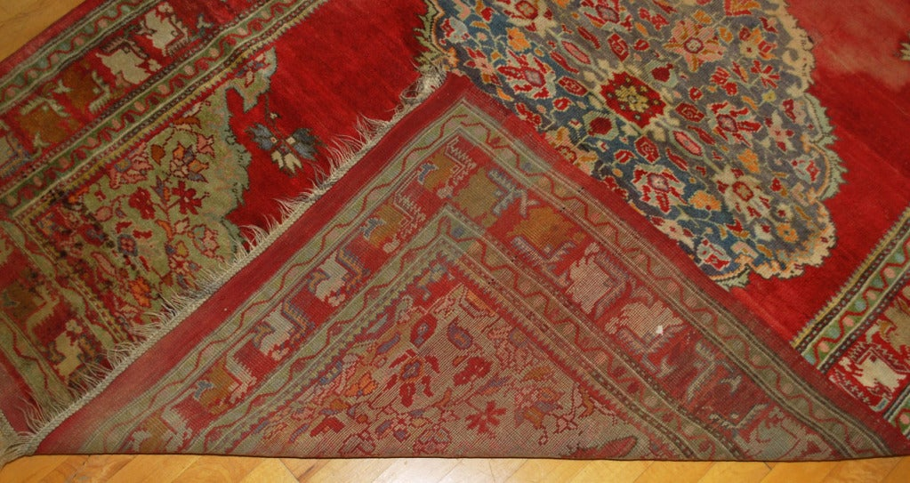 Wool Antique Russian Rug For Sale
