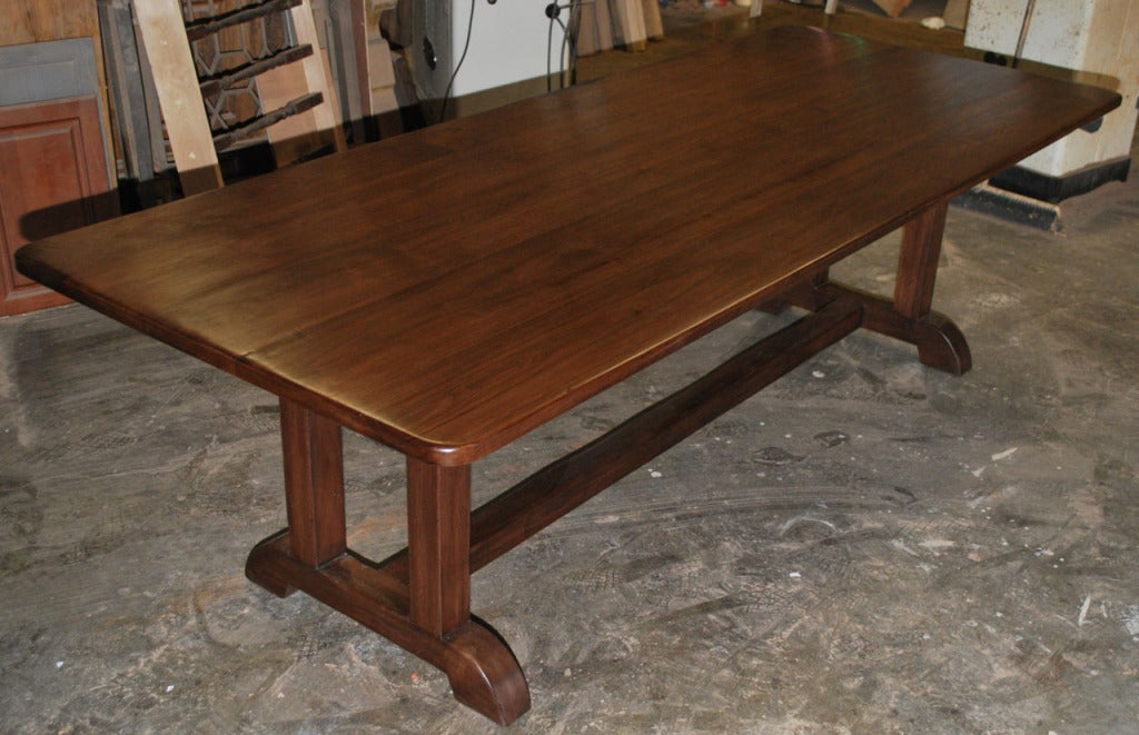 Dining Table Made from Vintage Black Walnut, Built to Order by Petersen Antiques For Sale 4