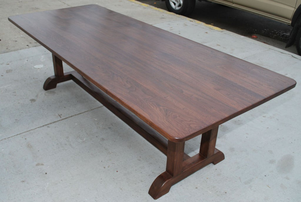 Vintage black walnut dining table at 1stdibs for Walnut dining table