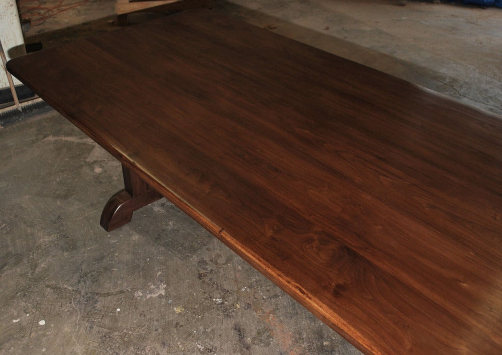American Dining Table Made from Vintage Black Walnut, Built to Order by Petersen Antiques For Sale