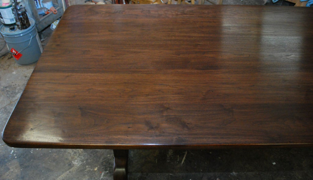 Dining Table Made from Vintage Black Walnut, Built to Order by Petersen Antiques In Excellent Condition For Sale In Los Angeles, CA