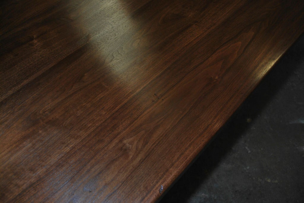 Contemporary Dining Table Made from Vintage Black Walnut, Built to Order by Petersen Antiques For Sale