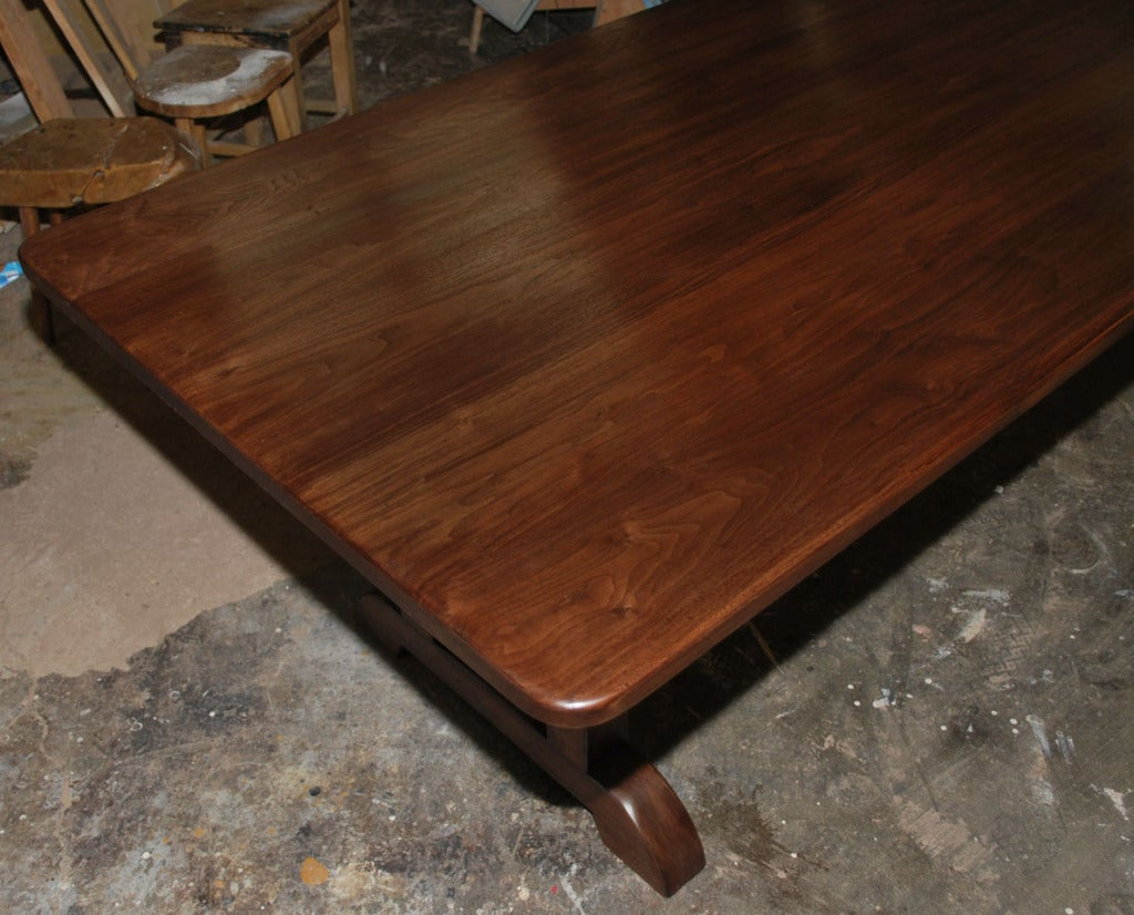 Dining Table Made from Vintage Black Walnut, Built to Order by Petersen Antiques For Sale 1