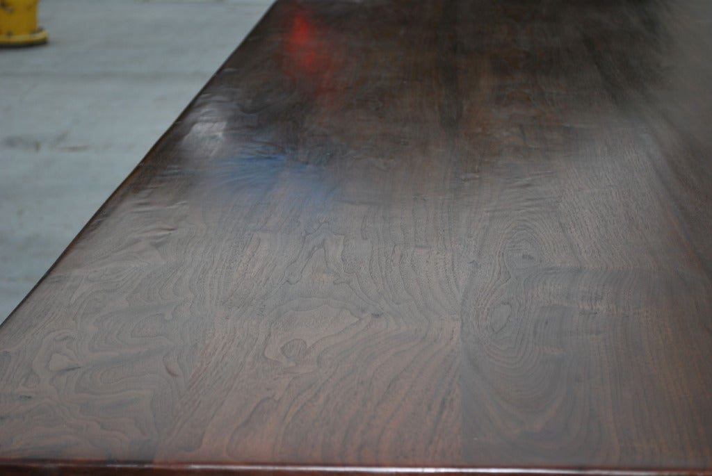 Dining Table Made from Vintage Black Walnut, Built to Order by Petersen Antiques For Sale 3