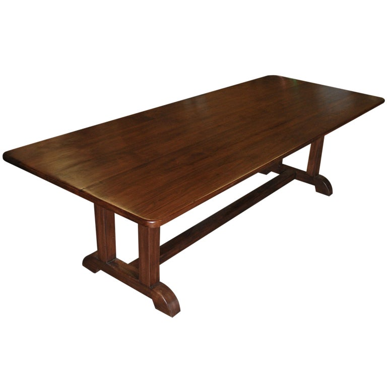 Dining Table Made From Vintage Black Walnut 1