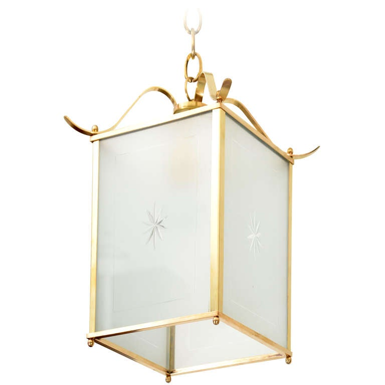 Mid Century Hall Lantern At 1stdibs