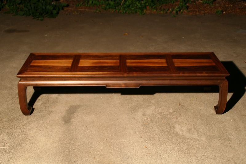 Rosewood And Mahogany Asian Style Coffee Table By Baker At 1stdibs