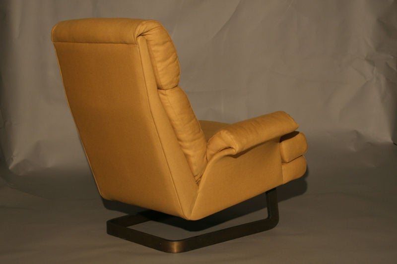 A Comfortable Modern Chair And Ottoman By Metropolitan For Sale At 1stdibs