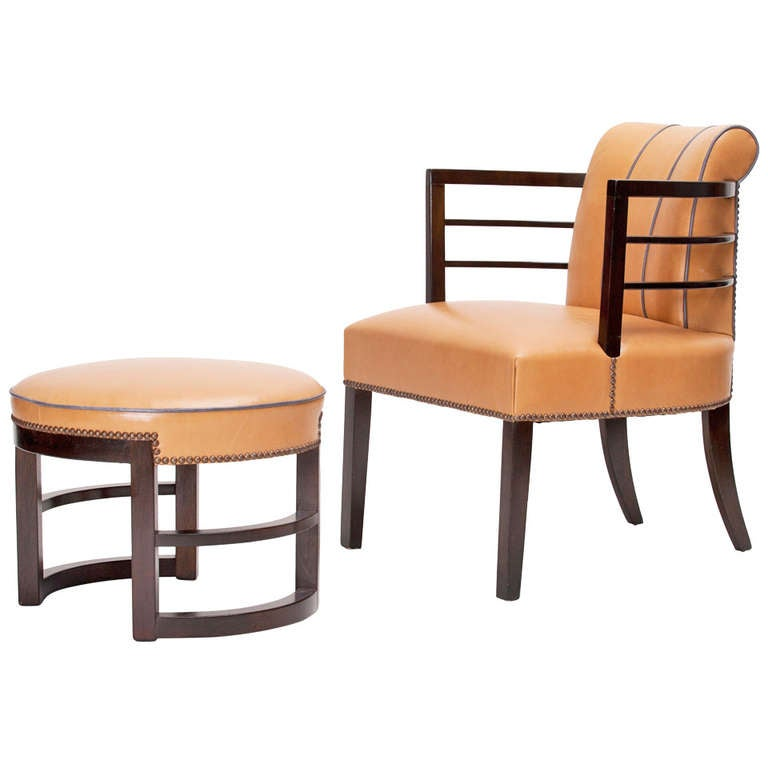 Gilbert Rohde Chair and Ottoman