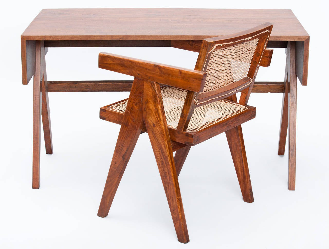 Modern Pierre Jeanneret Desk For Sale