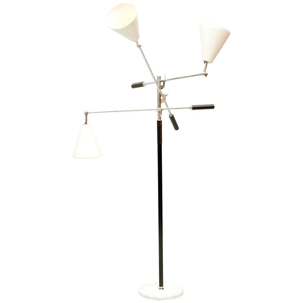 this arredoluce three arm floor lamp is no longer available. Black Bedroom Furniture Sets. Home Design Ideas