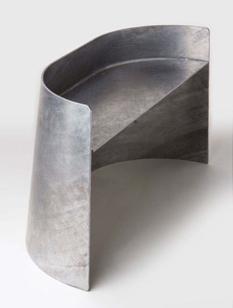 Jonathan Nesci Steel Bench In Excellent Condition For Sale In New York, NY