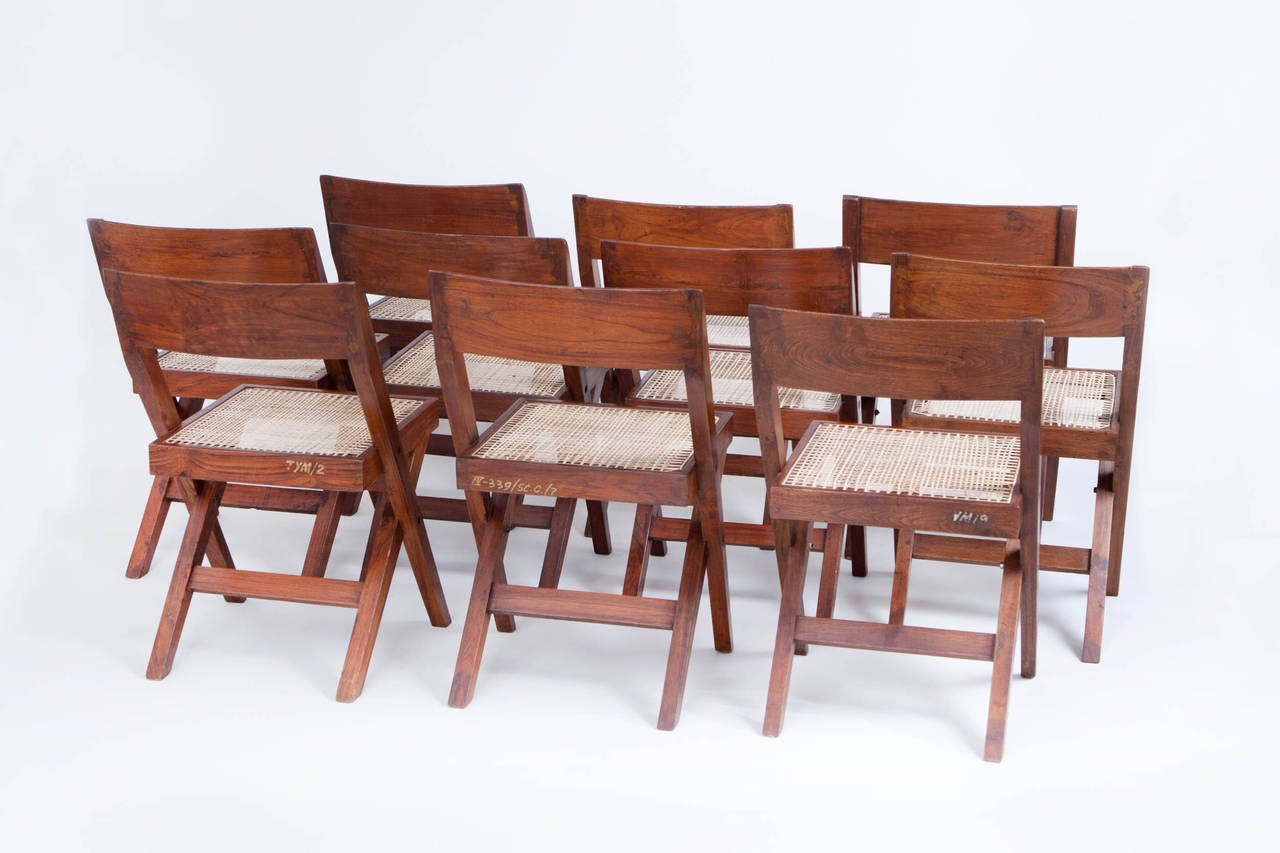 10 Pierre Jeanneret Library / Dining Chairs 2