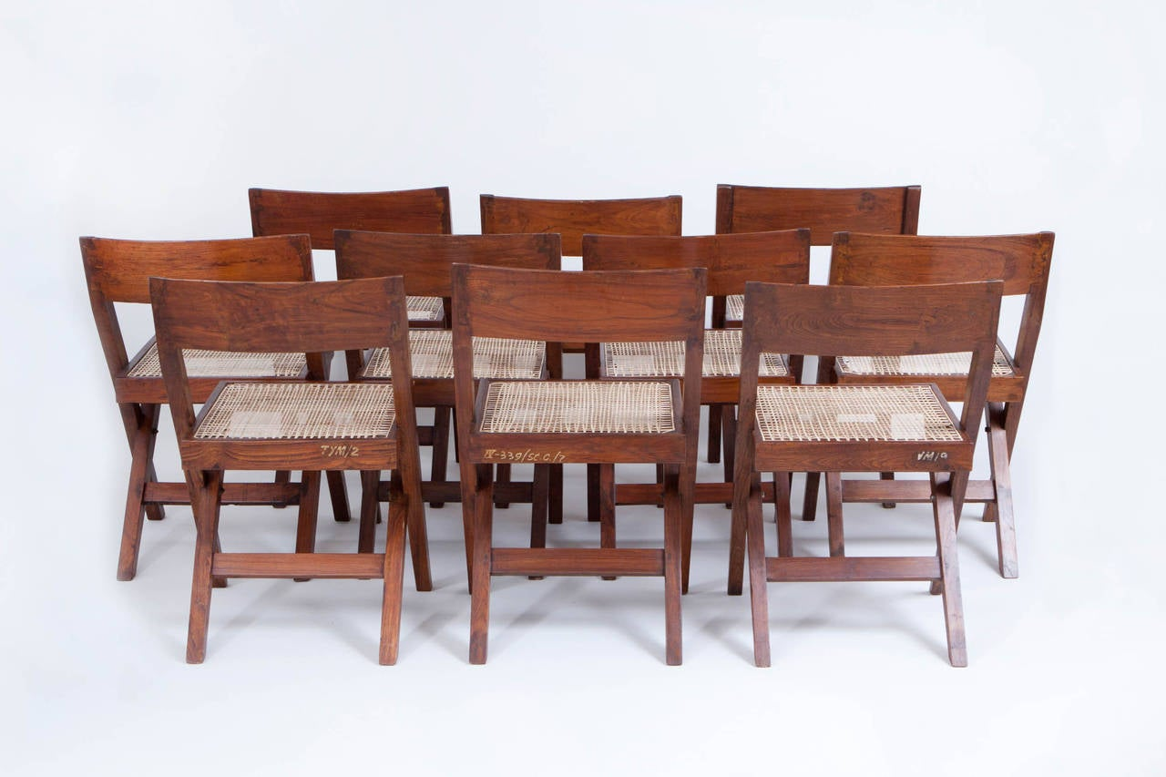 10 Pierre Jeanneret Library / Dining Chairs 5