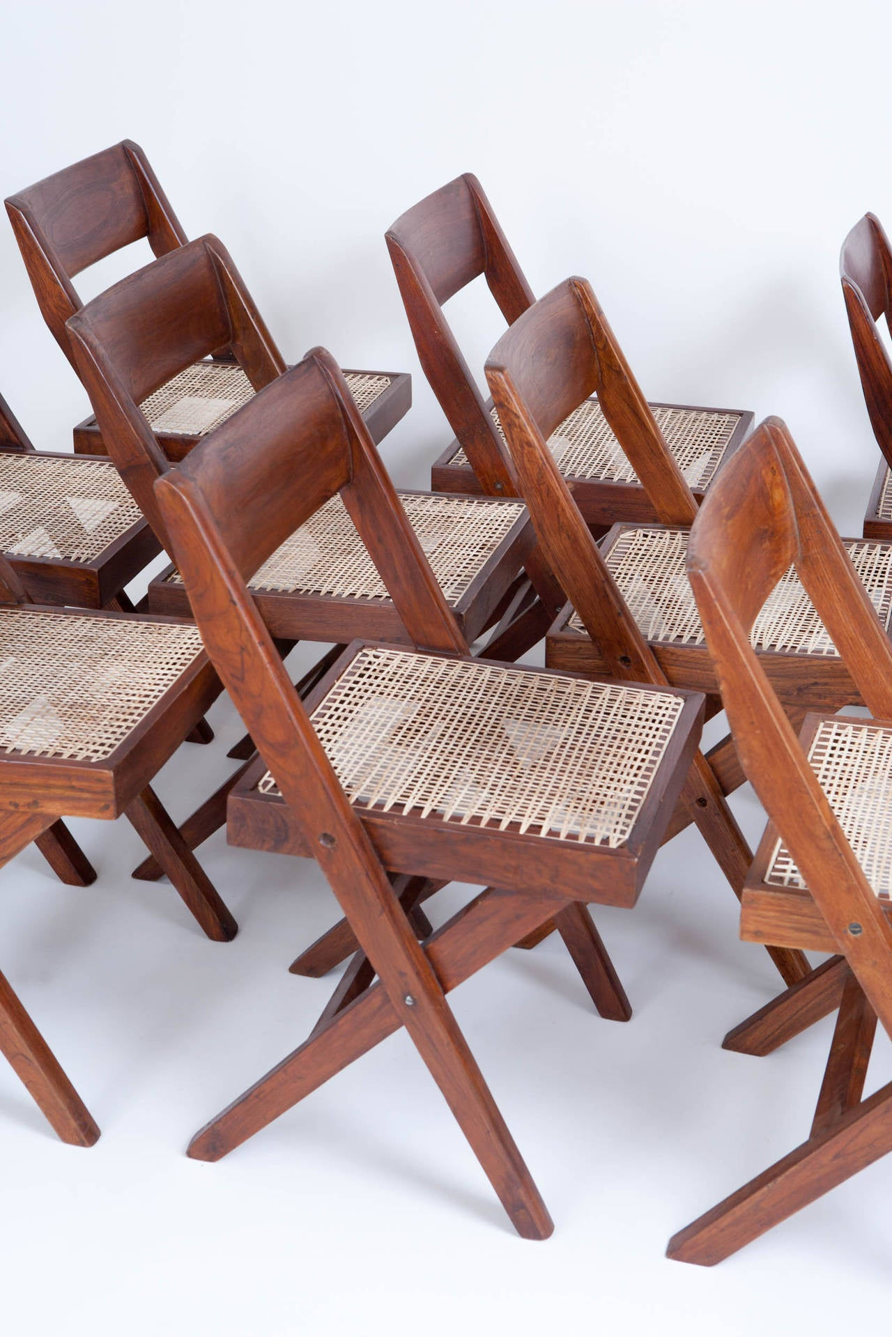 10 Pierre Jeanneret Library / Dining Chairs 3