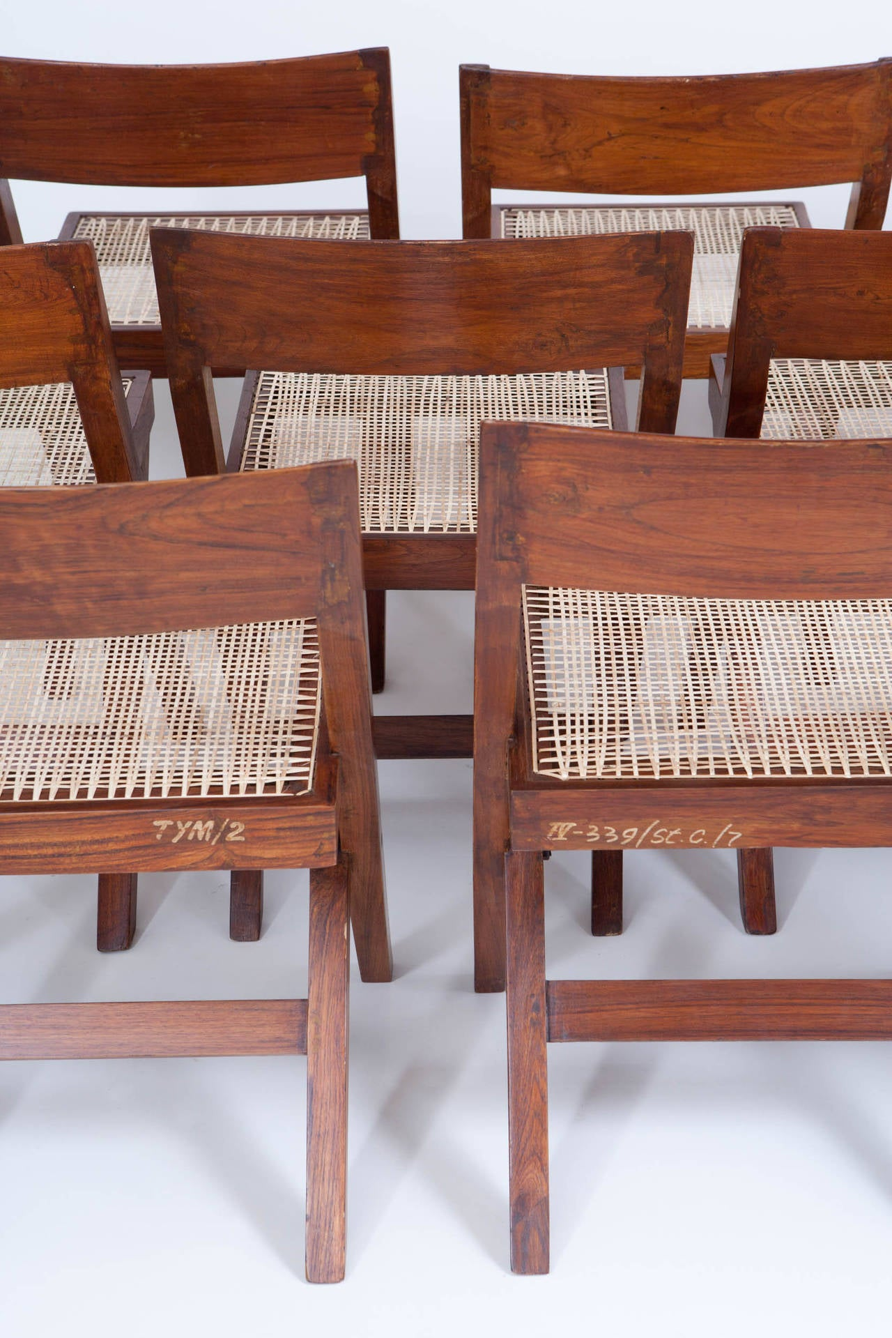 10 Pierre Jeanneret Library / Dining Chairs 4
