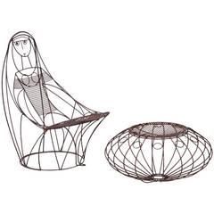 John Risley Lounge Chair and Ottoman