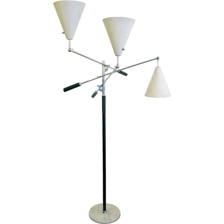 arredoluce 3 arm floor lamp at 1stdibs. Black Bedroom Furniture Sets. Home Design Ideas