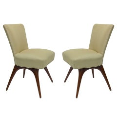 Pair of Chairs by Vladimir Kagan for Dryfis circa1950 American