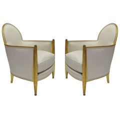 Pair of Chairs by Paul Follot French Deco circa 1930