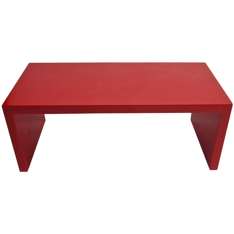 Xxx Red Lacquered Coffee Table