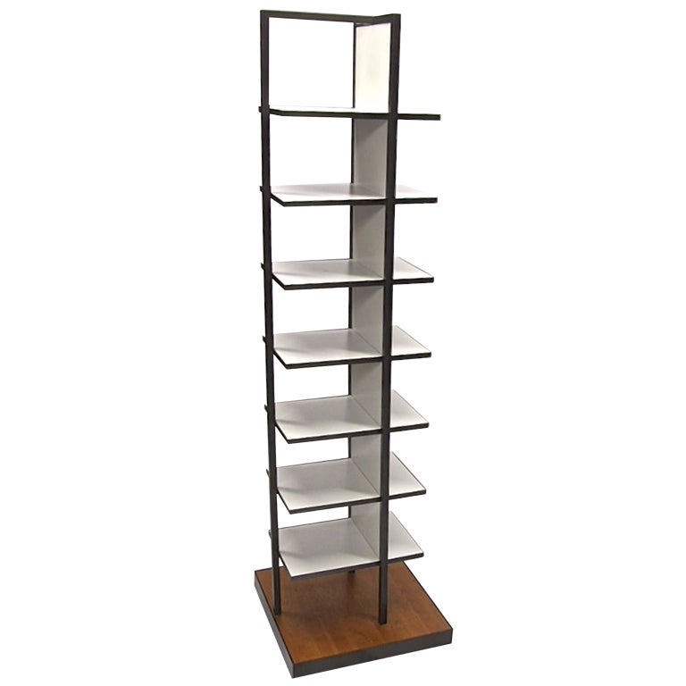 Free Standing Shelving Or Display Unit On Casters Circa